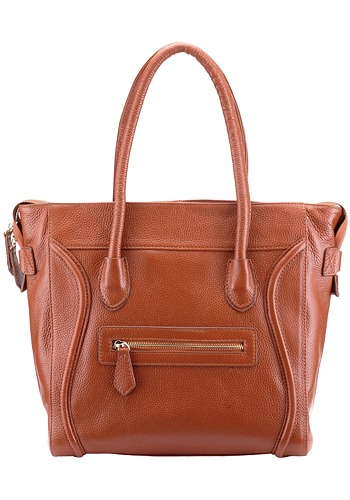 London Leather Tote Camel