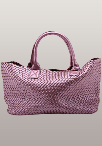 Grand Boulevard Woven Large Tote Shining Pink