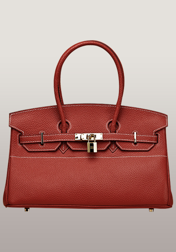 The Essential Jane Horizontal Bag Leather Red