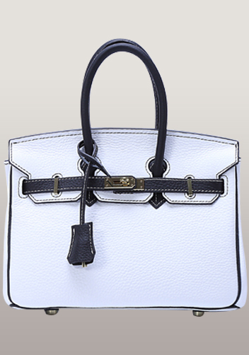 The Essential Jane Small Patchwork Leather Bag Black White