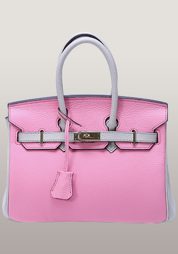 The Essential Jane Small Patchwork Leather Bag Pink Gery
