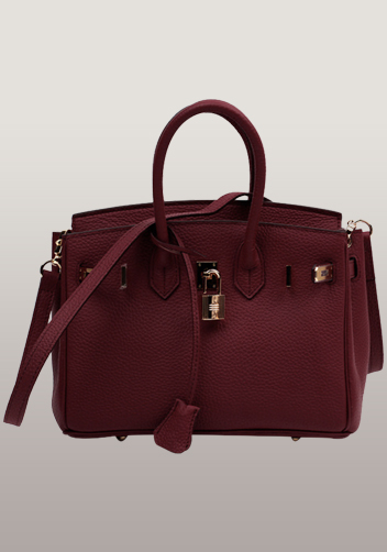 The Essential Jane Small Leather Bag Burgundy