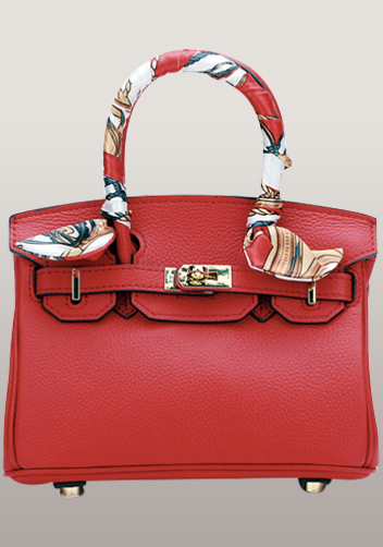 The Essential Jane Small Leather Bag Red