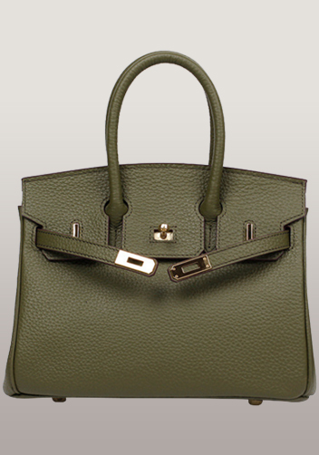 The Essential Jane Small Leather Bag Green