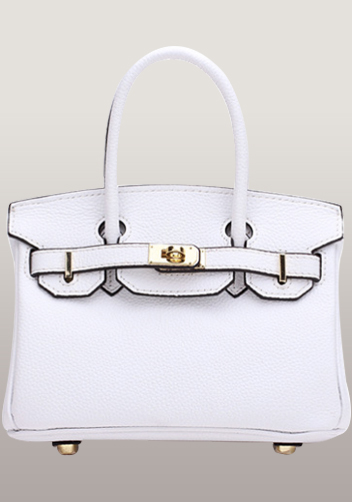 The Essential Jane Small Leather Bag White