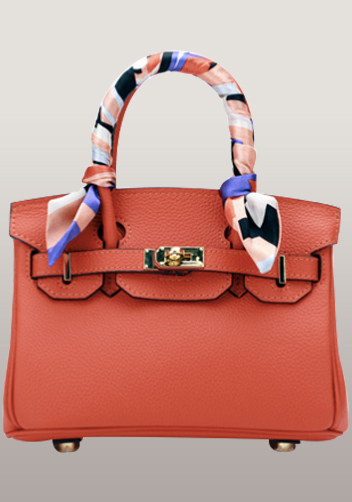 The Essential Jane Small Leather Bag Orange
