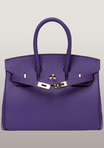 The Essential Jane Small Leather Bag Purple