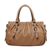Julie Leather Bag Beige