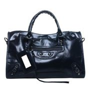 The Route 66 Trendy Cowhide Leather Bag Blue