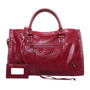 The Route 66 Trendy Cowhide Leather Bag Dark Red