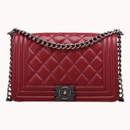 Ingrid Quilted Medium Leather Bag Burgundy
