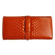 Cameron Long Wallet Croc Effect Brown