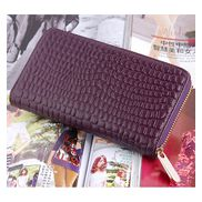 DAKOTA PURSE WALLET CROC EFFECT LEATHER PURPLE