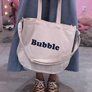 Bubble Canvas Tote Shopping Bag