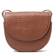Pauline Leather Shoulder Bag Brown