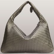 La Scalla Woven Hobo Dark Grey