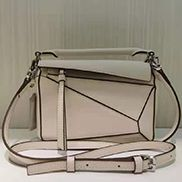 ADRIENNE MINI GEOMETRY LEATHER BAG WHITE