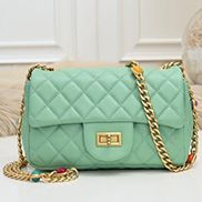 Adele Flap Small Bag Gemstone Chain Green