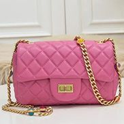 Adele Flap Small Bag Gemstone Chain Pink