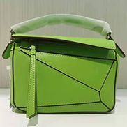 ADRIENNE MINI GEOMETRY LEATHER BAG GREEN