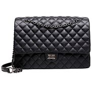Adele Vegan Leather Large Bag Black
