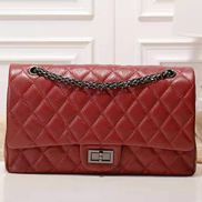 Adele Flap Bag Grain Leather Burgundy