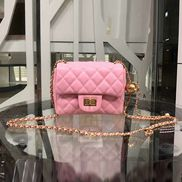 Adele Flap Mini Bag With Adjusting Ball Pink