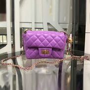 Adele Flap Mini Bag With Adjusting Ball Purple