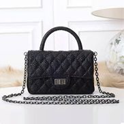 Adele Flap Mini Bag Top Handle Caviar Black