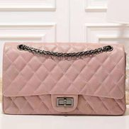 Adele Flap Bag Grain Leather Pink
