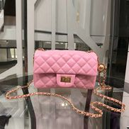Adele Flap Small Bag With Adjusting Ball Pink