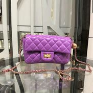 Adele Flap Small Bag With Adjusting Ball Purple