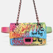 Adele Flap Small Bag Vegan Graffiti Multicolor