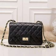 Adele Flap Small Cowhide Black