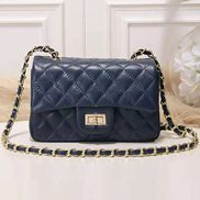 Adele Flap Small Cowhide Blue