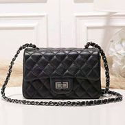 Adele Flap Small Grain Leather Black