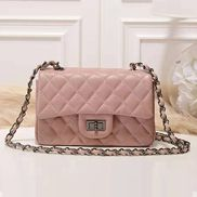 Adele Flap Small Grain Leather Pink