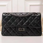 Adele Flap Small Lambskin Black