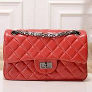 Adele Flap Small Lambskin Red