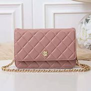 Adeline Lambskin Leather Diamond Shape Shoulder Bag Pink