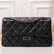 Adele Quilted Leather Flap Mini Bag Black Hematite Hardware