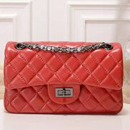 Adele Quilted Leather Flap Mini Bag Red Hematite Hardware