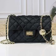 Adele Velvet Shoulder Bag Black