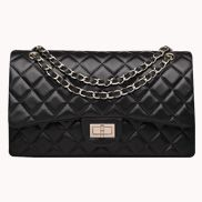 Adele Flap Bag Lambskin With Gold Hardware Black