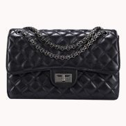 Adele Flap Medium Bag Faux Leather Black