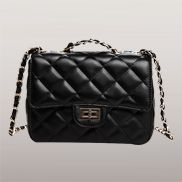 Adele Flap Mini Bag Faux Leather Black