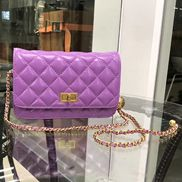 Adeline Leather Bag With Adjusting Ball Purple