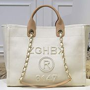 Alison Beach Shopping Large Tote Cream