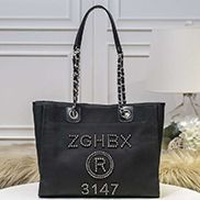 Alison Beach Shopping Medium Tote Black