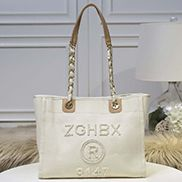 Alison Beach Shopping Medium Tote Cream